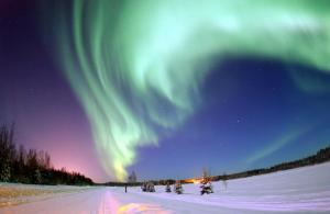 The Aurora Borealis over Eielson Air Force base, Alaska